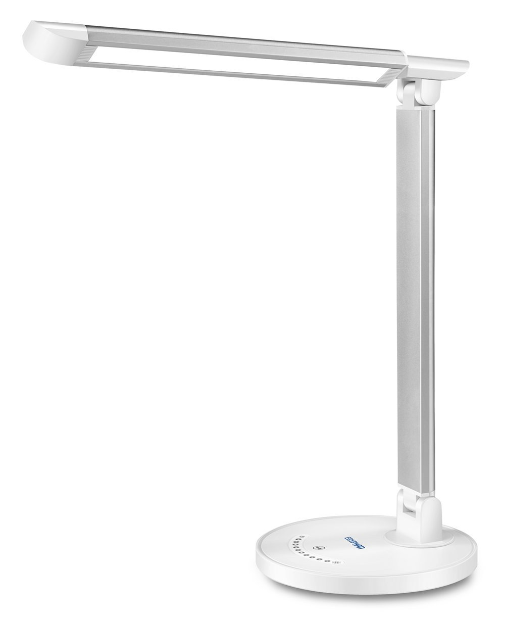 Ebyphan Led Desk Lamp,Modern Stylish Table Lamps,Reading Lamp,Touch Control,5 Lighting Modes with 7 Dimmable Brightness Levels,White Color,12W