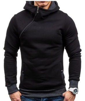 Custom made Side Zipper Sweatshirts Casual Hoodie
