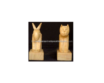 Decorative animal crafts wood carving rabbit buy decorative