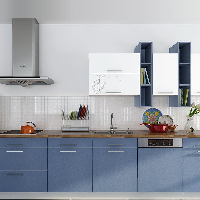 Warna Bunga Lukisan Kayu Lemari Dapur Modern Ide