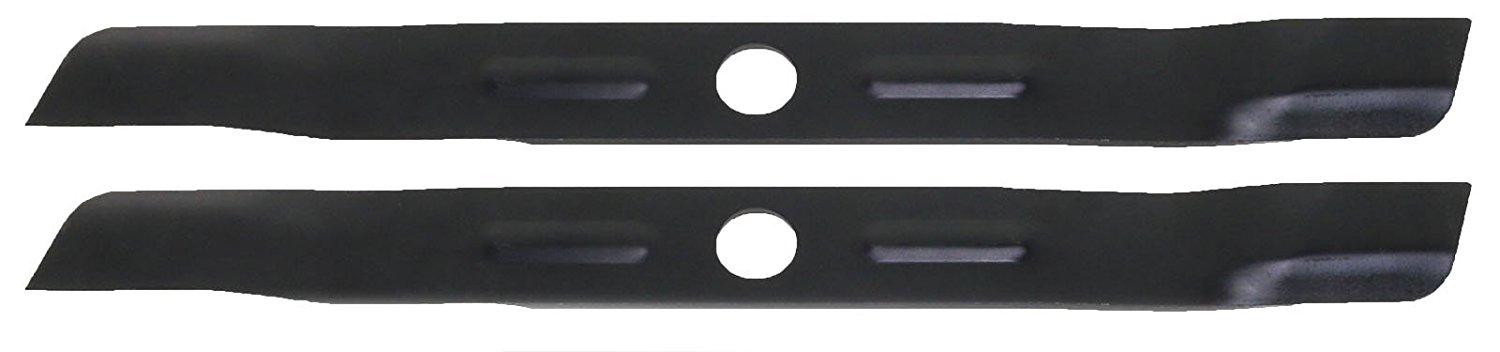 USA Mower Blades (2 BD19BP Low Lift Mulching Blade Replaces Black Decker 905541433 Length 18 1/2 in. Width 1 3/4 in. Thickness .150 in. Center Hole 1 in.