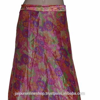 9b3361a5888 WOMEN SKIRT INDIAN GYPSY OR MAGIC WRAP SILK COVER UP DRESS REVERSIBLE SAREE