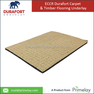 Durable and Long Lasting ECCR Durafort Rubber Carpet Underlay