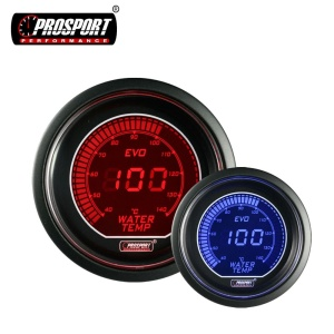 52mm Car Use 2 Colors LCD Digital Water Temperature Meter