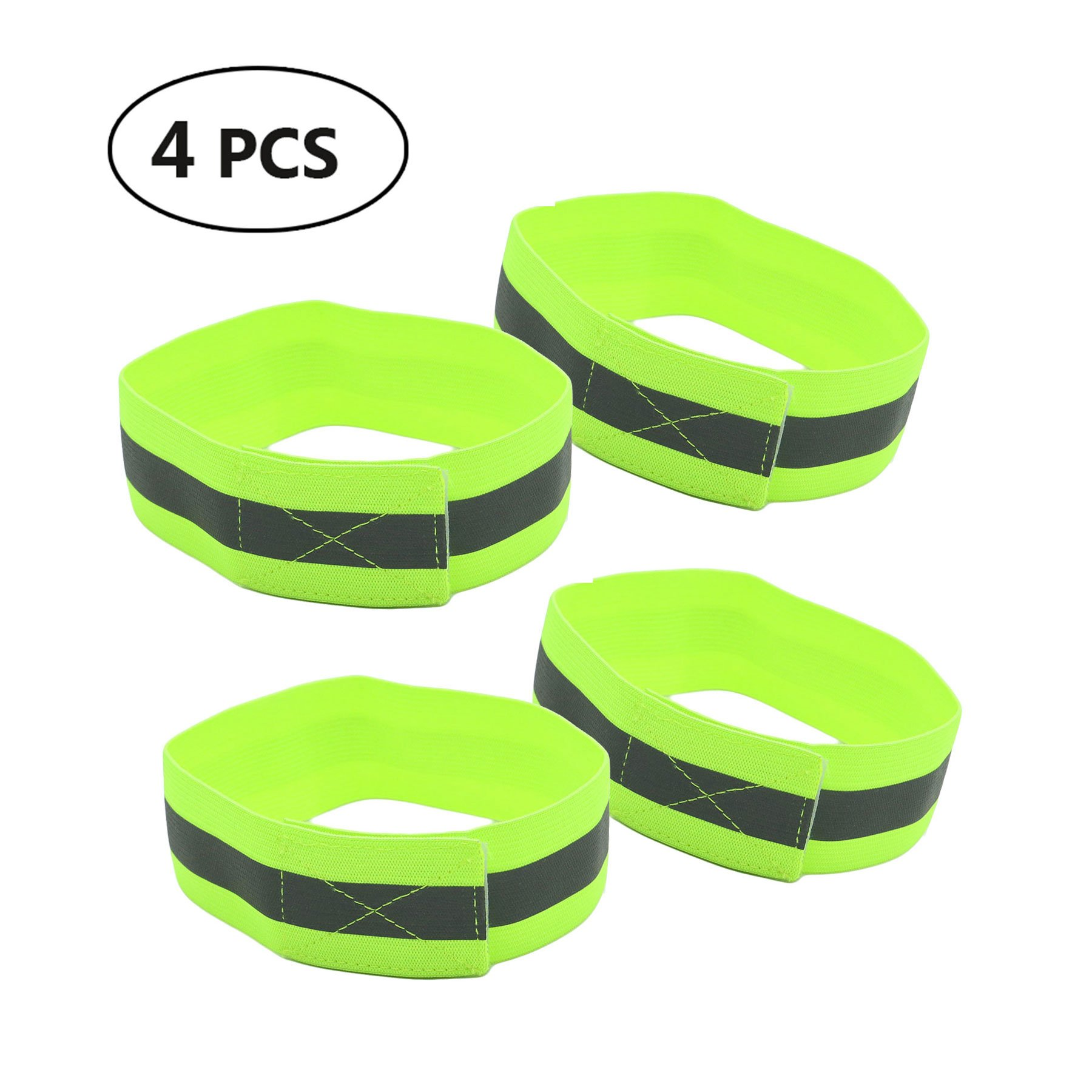 2018 1 Pair High Visibility Band Reflective Wristbands Elastic Ankle Wrist Bands Arm For Waling Cycling Running Outdoor Sports Sports & Entertainment Running