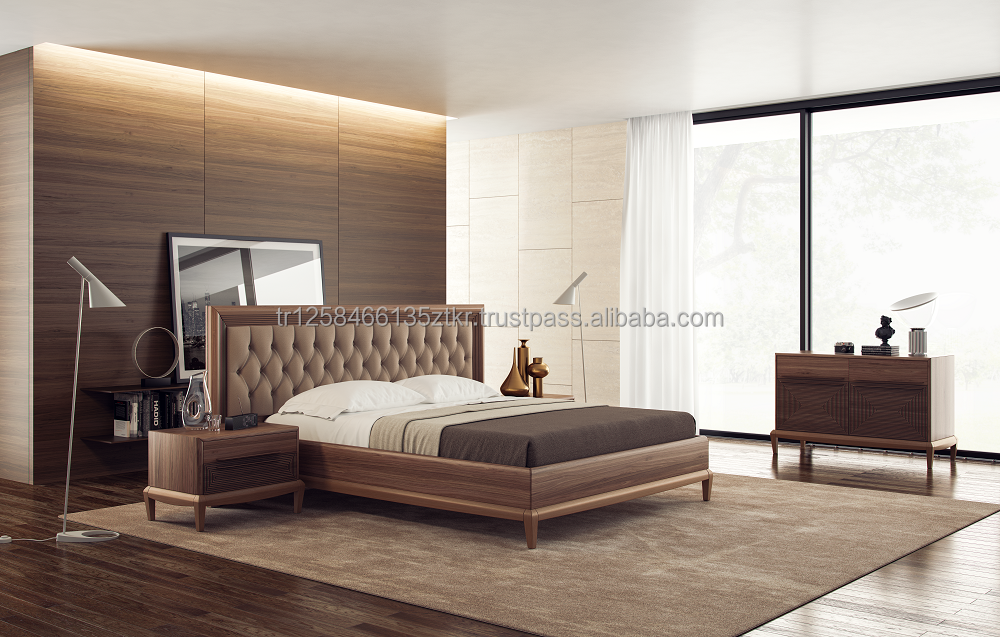 Modern Wooden Bedroom Set 6 Pieces