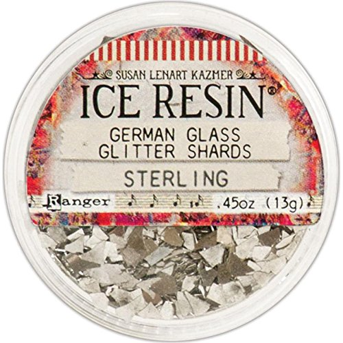 ICE Resin® Glass Glitter Shards, Sterling