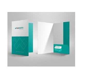 "Presentation folders 9""x 12"" revelation print."