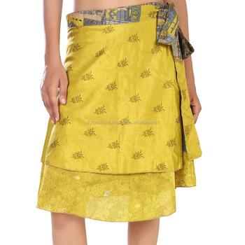 35961ea82 Mujeres Indias Doble Capa Arte Sari De Seda Reversible Verano Playa  Desgaste Magic Wrap Faldas - Buy Falda Plisada Mágica,Envolver Alrededor De  ...