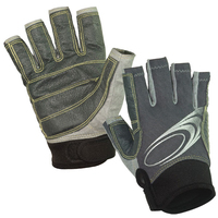 soft durable Synthetic leather and silicone super grip double protection on the palm Sailing Gloves/