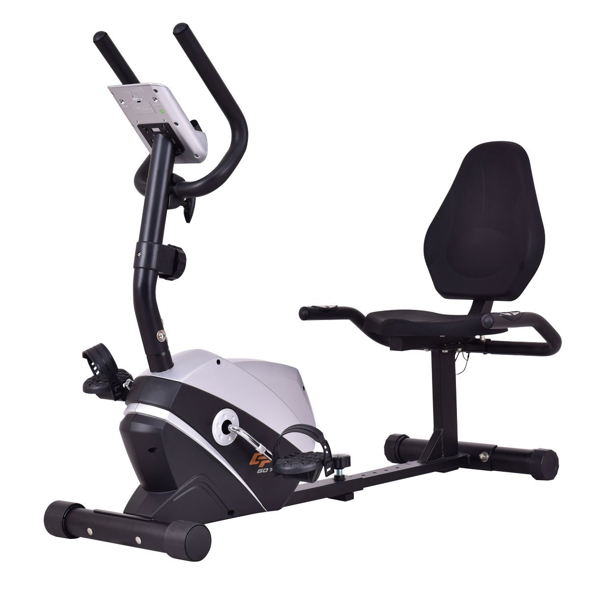 f4968ef05f4 Get Quotations · Goplus Magnet Recumbent Bike Exercise Bike Stationary  Bicycle Cardio Workout Fitness Bicycle Equipment