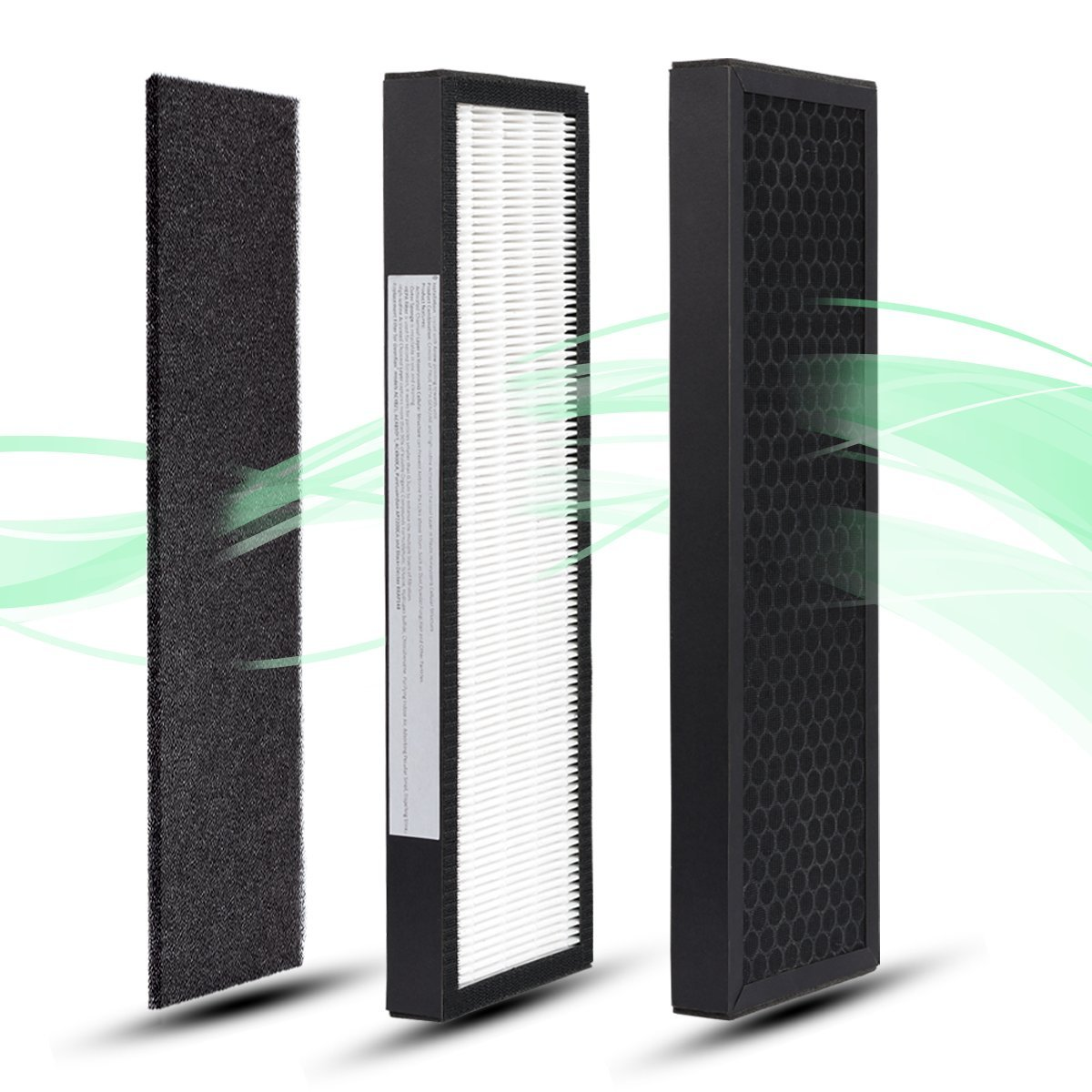 BONTIME True HEPA Air Replacement Filter - Inovative Honeycomb High-iodine Activated Charcoal Layer Hepa Filter B for GermGuardian AC4300/AC4800/4900 Series Air Purifiers