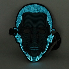 2019 Nieuwe product party decoratie halloween sound activated masker glowing LED masker Halloween