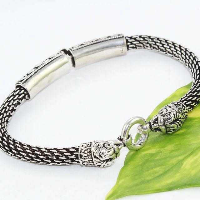 7a9d79cb093d León Vintage de diseñador de plata Lisa abierta de la joyería de la plata  esterlina 925