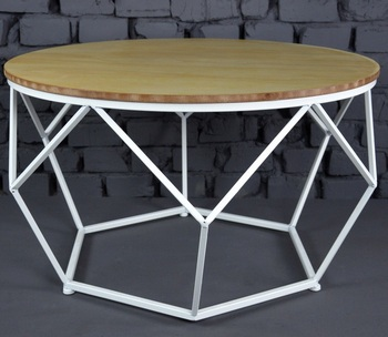 Round White Wood Coffee Table Design Ideas