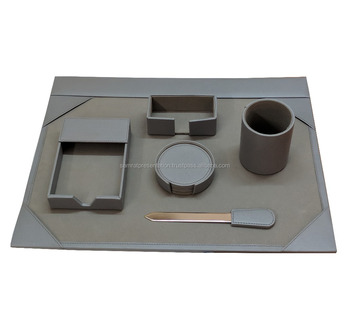 Pu Leather Executive Office Stationery Desk Set