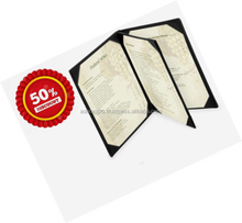 SALE 50 PERCENT OFF on leather menu book folder / Fifty percent discount on wholesale menu cover