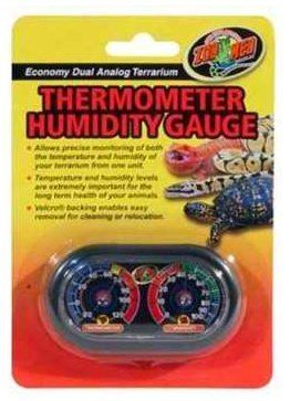 Zoo Med Economy Analog Dual Thermometer and Humidity Gauge, thermometer, usb, humidity, gauge