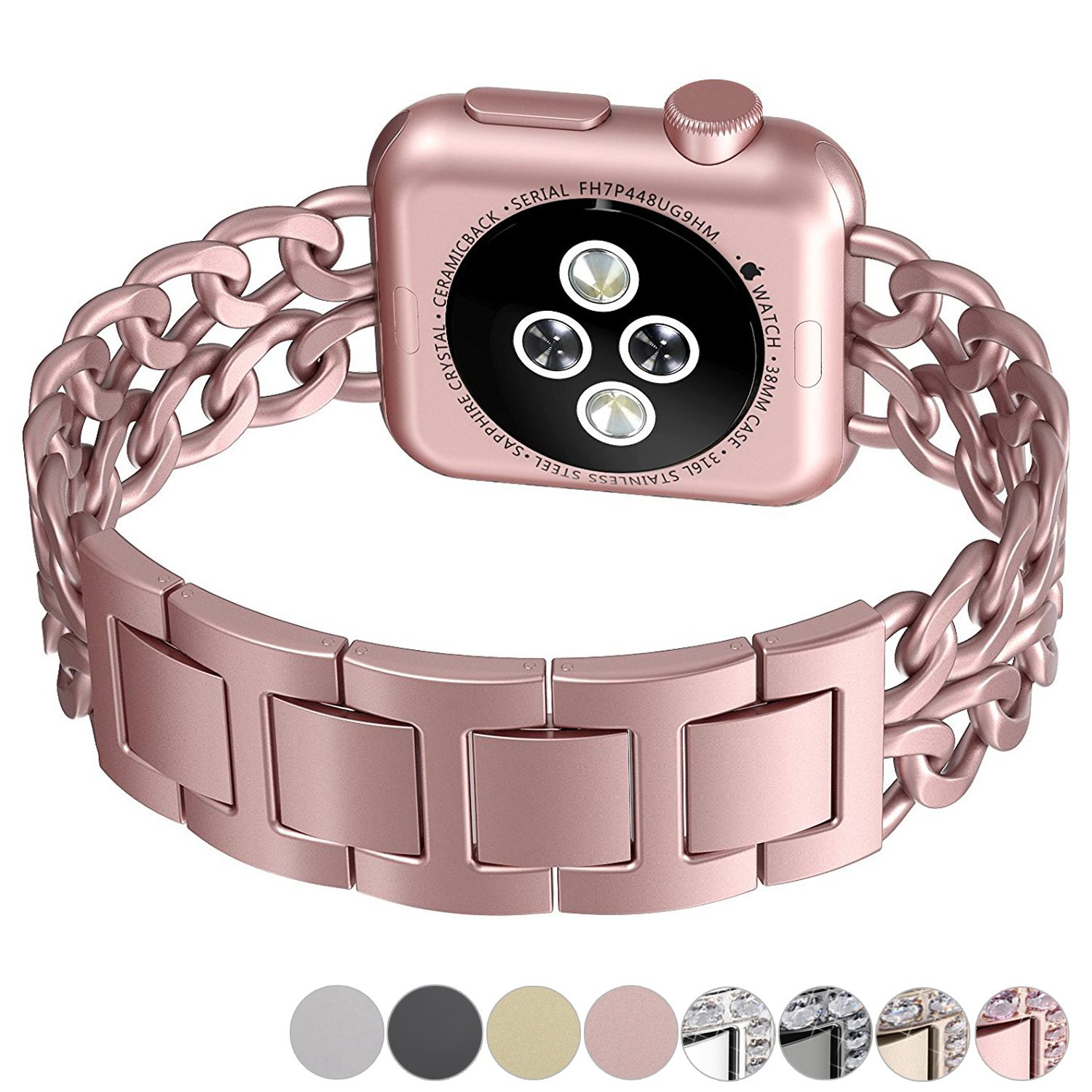 Apple Watch Band, No1seller Premium Stainless Steel Cowboy Style Bracelet Watch Band Strap for Apple Watch Series 1, Series 2