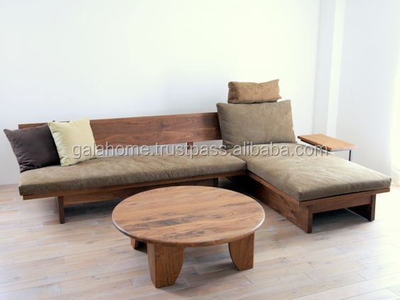 3 Seater Fabric Sofa Living Room Furniture Wood for Wholesale