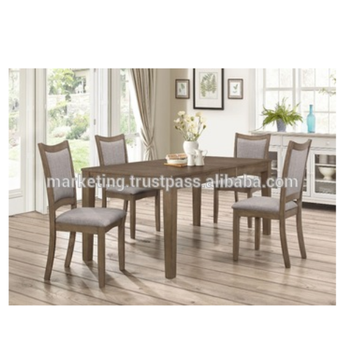 European Modern Style Wooden Dining Set And Extendable Table Cushion Back Chair