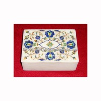 Marble Inlay Decorative Box With Micro Mosaic Art Work