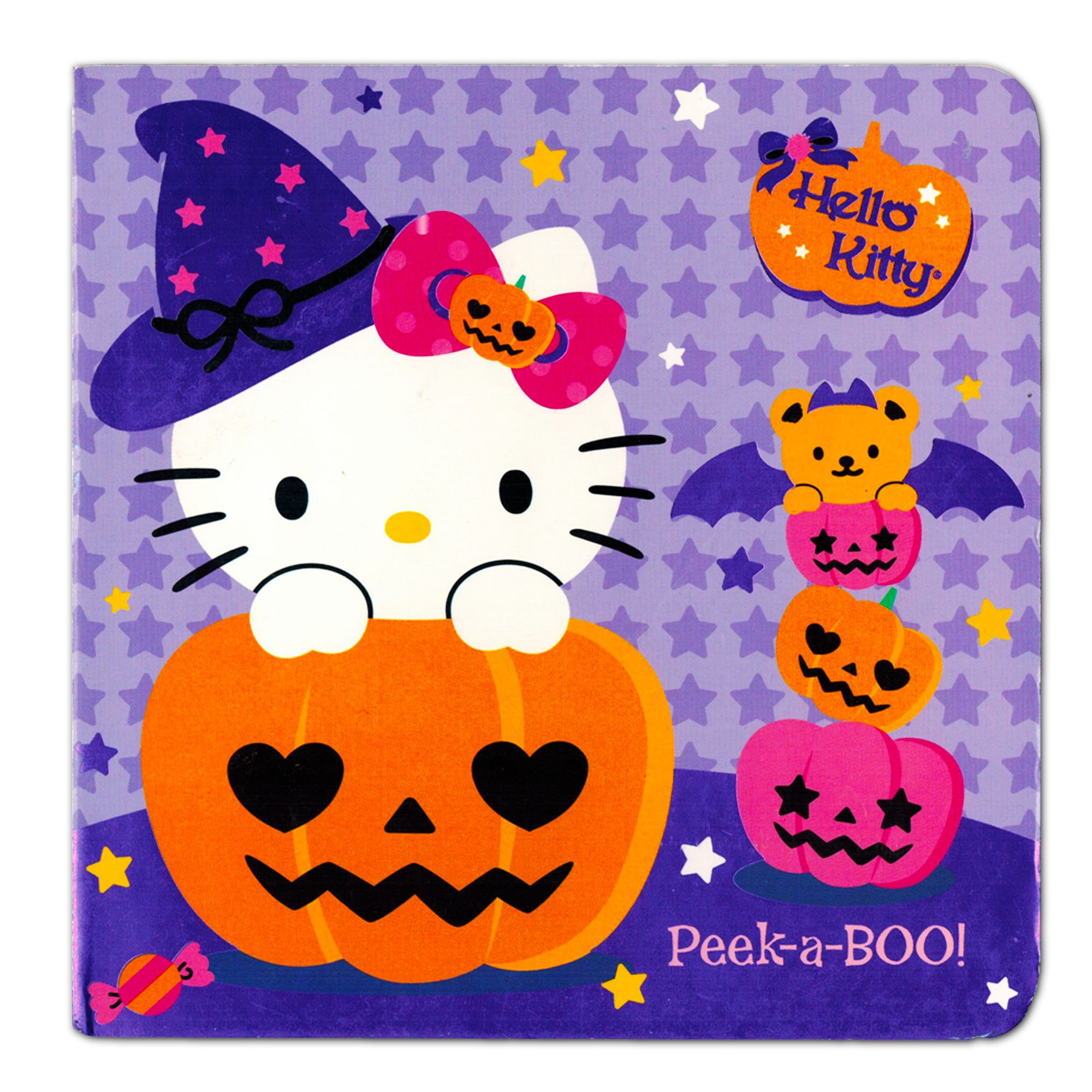 "Hello Kitty Halloween Board Book For Kids Toddlers Girls (Hello Kitty ""Peek-a-Boo!"")"