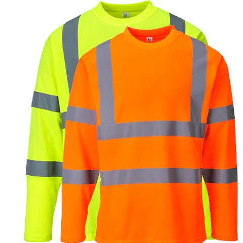 Hi Vis T Shirt ANSI Class 3 Reflective Safety Lime Short Long Sleeve Road Work