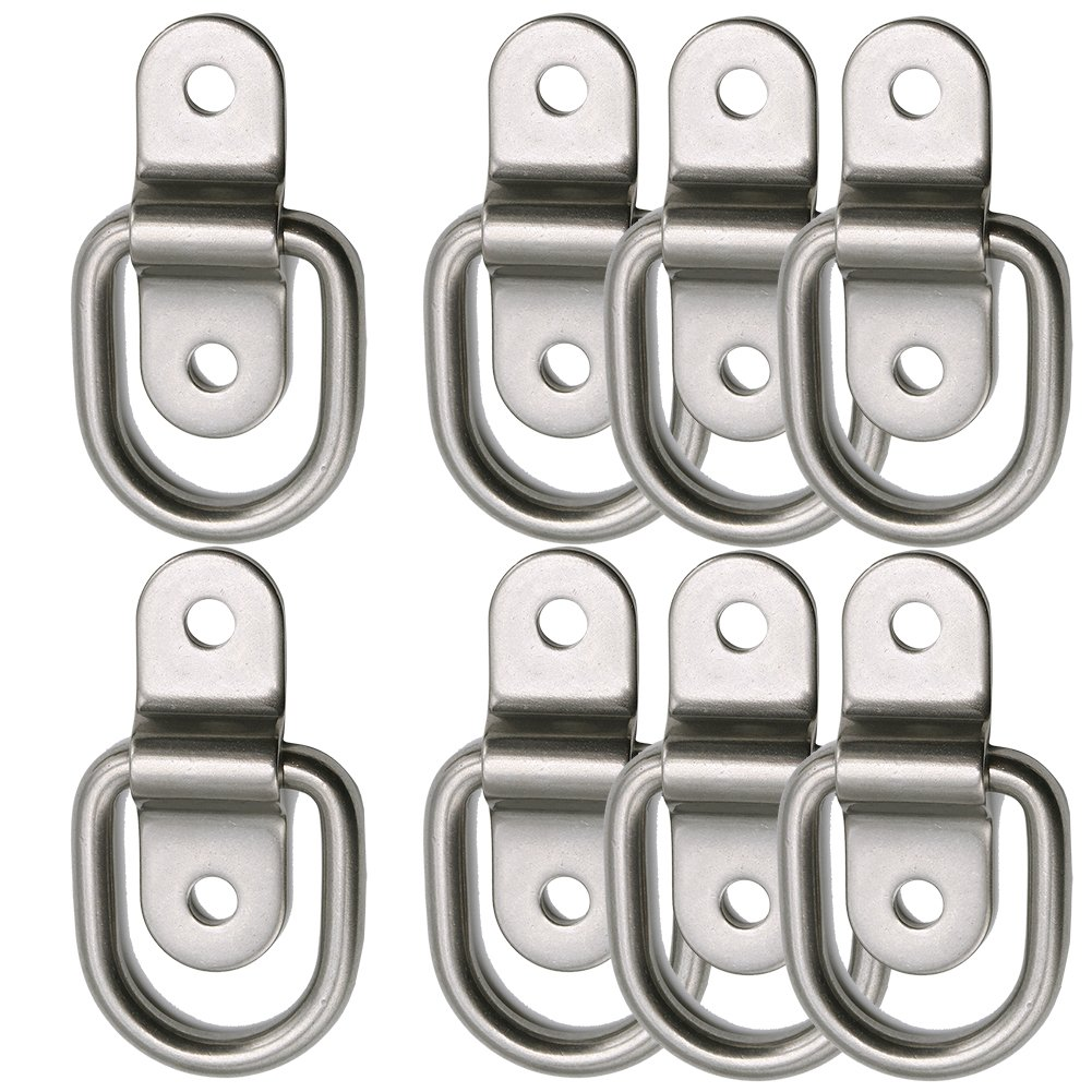 PROGRIP 822640 Truck and Trailer Cargo Surface Mount Tie Down with D Ring Pack of 4 Light Duty Strength
