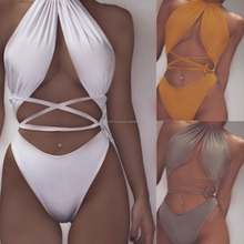 Sexy Ladies Round Neck Polyester One-piece Swimwear 2018