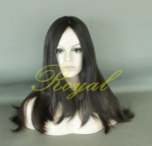 Top quality 100% unprocessed Human hair Jewish wig Kosher wig Brazilian Virgin Hair 25inch Natural color