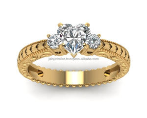 Fine Jewelry GIA Certified 1.60 Ct Real Natural Genuine Heart Solitaire Diamond 18 Kt Real Solid Yellow Gold Engagement Ring