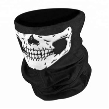 Black Balaclava Ghosts Skull Full Face Mask for Cosplay Party Halloween Outdoor Motorcycle Bike Cycling Skateboard Hiking Skiing