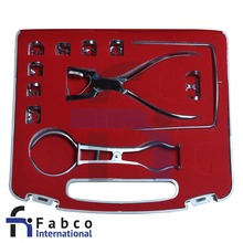 Endodonzia Diga di Gomma Morsetti Kit Ainsworth Pinza, Stoke 15 Pz Dental Instruments