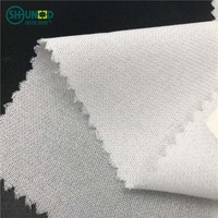 Wholesale 55GSM fusible interfacing woven adhesive lining cloth Garment interlining double dot coated fusible woven interlining