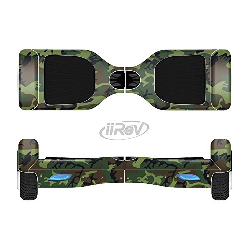 The Traditional Green Camouflage Full-Body Wrap Skin Kit for the iiRov HoverBoards and other Scooter (HOVERBOARD NOT INCLUDED)