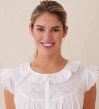 d3d98f1f62 100% Cotton Women s Short Sleeve Plain White Nightgown - Buy Cotton ...