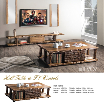 Tevor Solid Wood Hall Table And Tv Console For Modern Living Room