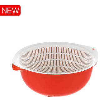HOT SALES # Plastic round basket basin #KITCHEN WARE# Duy Tan Plastics # MADE IN VIETNAM
