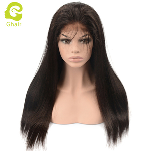 Malaysian hair half lace wig straight wave