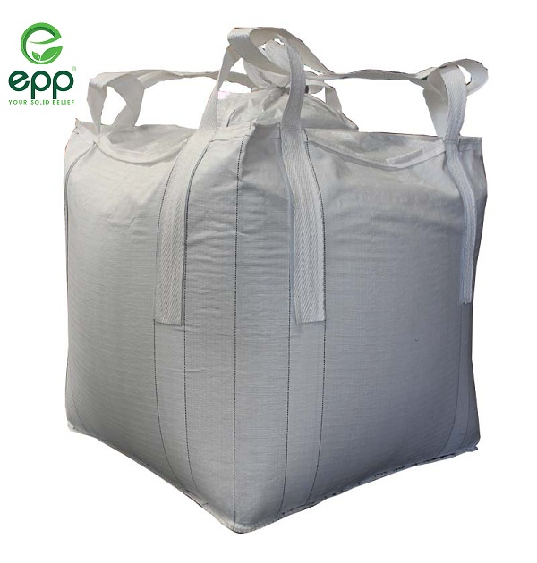 900x900x1200mm 4 cross hoek 2 stevedore loops top vullen uitloop vlakke bodem polypropyleen 1 ton jumbo bag