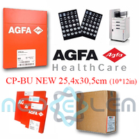 Agfa CP-BU NEW 25,4x30,5*10 - Medical Blue Sensitive X Ray Film for General Radiology - Consumable / Disposable Supply Equipment