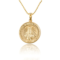 32654 Wholesale Dubai gold round shape design gold religion Jesus style pendant jewelry