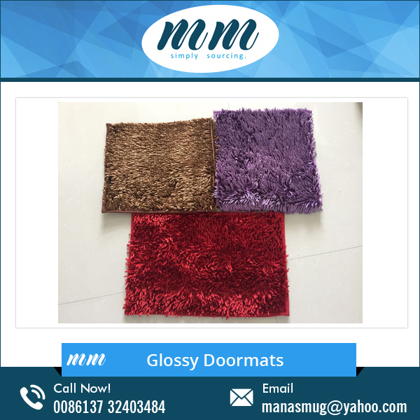 Chenille Mat, Washable Rubber Backed Bathroom Carpet