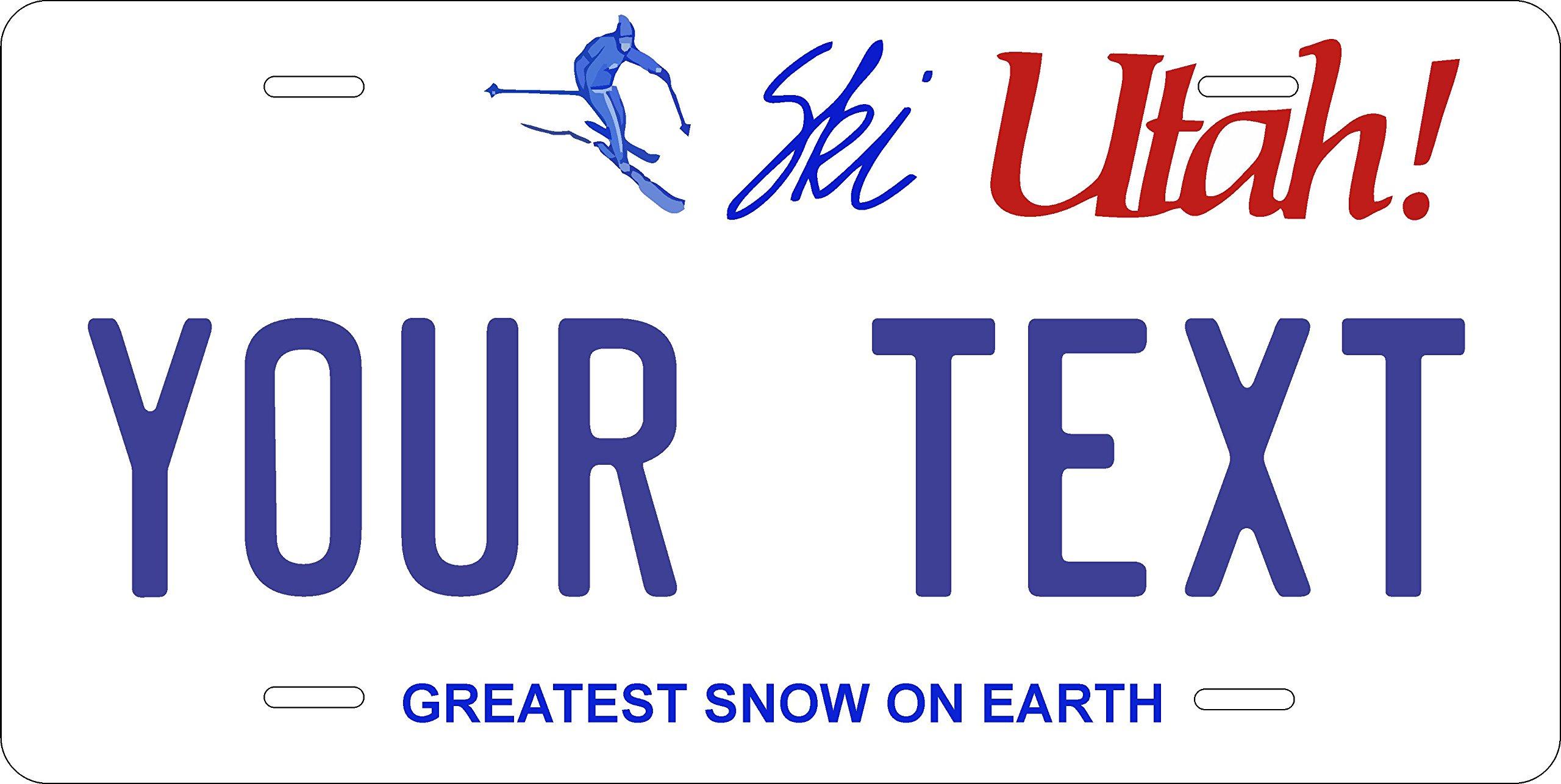Buy Utah Ski Personalized Tag Vehicle Car Moped Bike Bicycle ...
