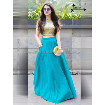 3c1a7dcd91ae9a Exclusive Indo Western Embroidery Designer Blouse Design Lehenga Choli for  Women