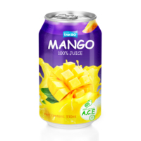 Vietnam tropical fruit juice manufacturer mango juice in 330ml can