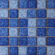 Mosaic ceramic swimming pool tile mixed blue color mosaic tile swimming pool