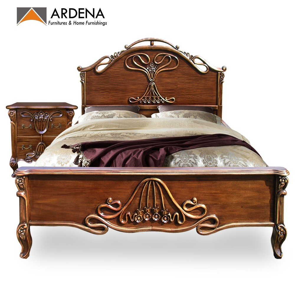 Classic Appearance Queen Size Bed Designs With Carving - Bedroom Furniture  - Buy Queen Size Bed Designs,Bedroom Furniture,Indonesian Furniture ...