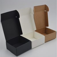 Black Kraft Packaging Box White Brown Cardboard Kraft Box Gift Packing Boxes Paper Packaging Boxes Candy Boxes